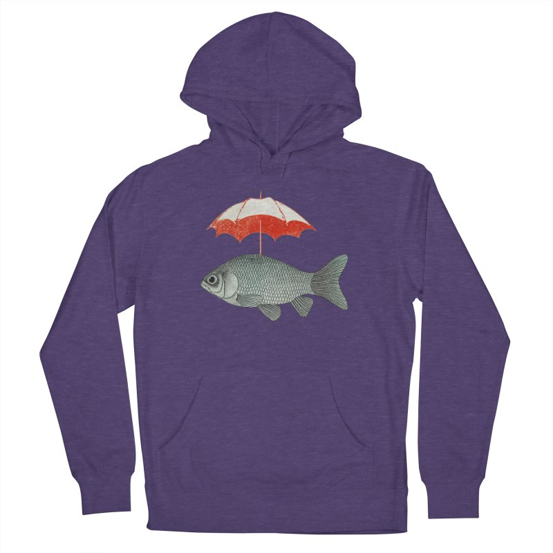 Umbrella Goldfish Men's Pullover Hoody by Vin Zzep's Artist Shop