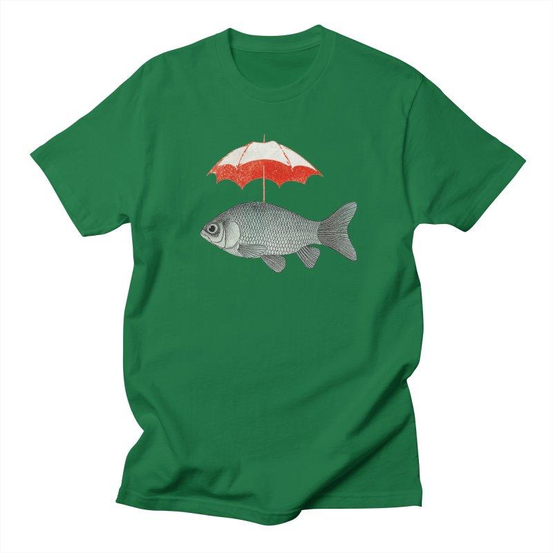 Umbrella Goldfish Men's T-Shirt by Vin Zzep's Artist Shop