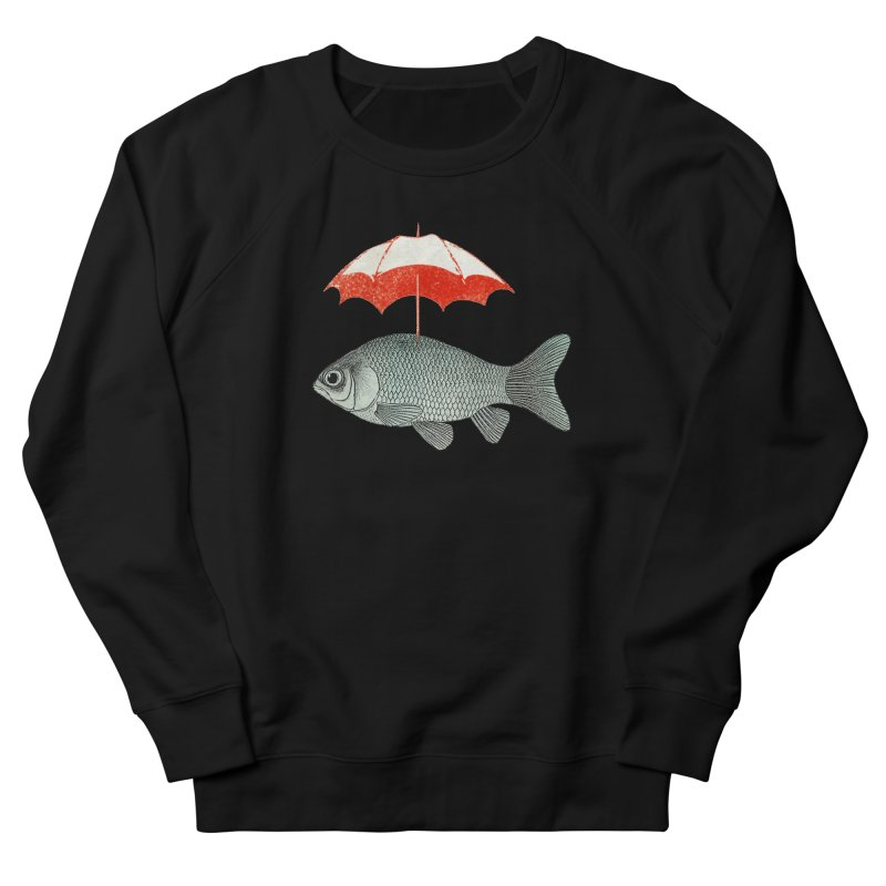 Umbrella Goldfish Women's Sweatshirt by Vin Zzep's Artist Shop