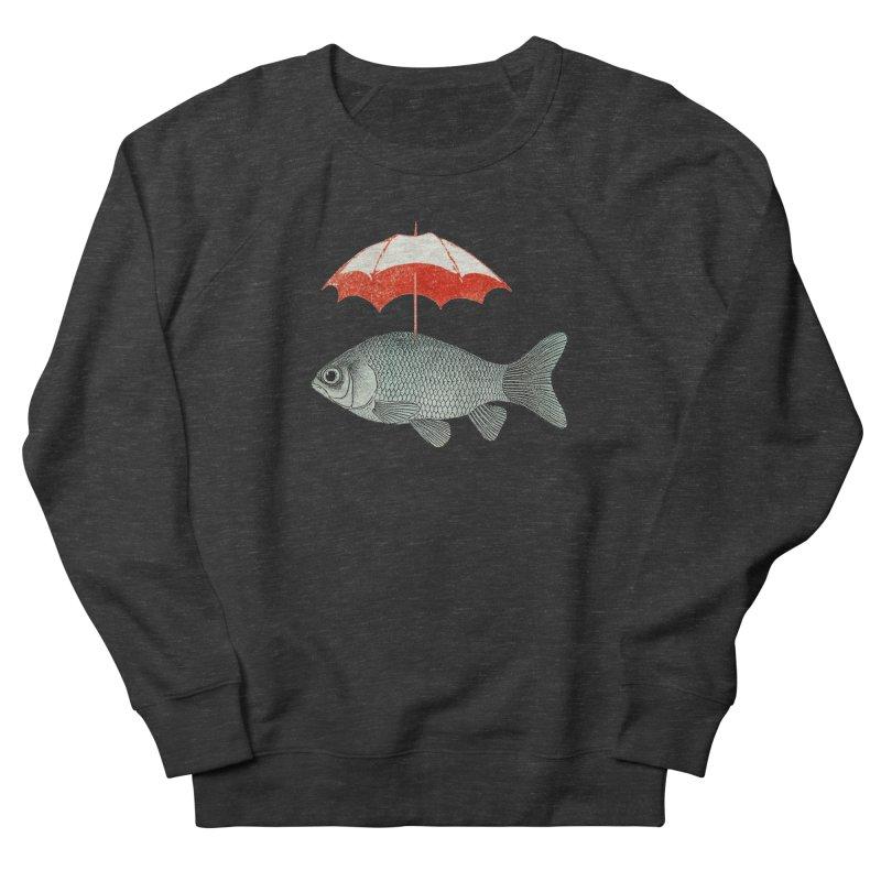 Umbrella Goldfish Men's Sweatshirt by Vin Zzep's Artist Shop