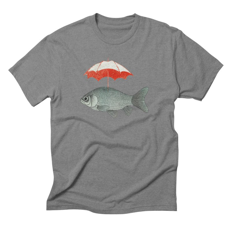 Umbrella Goldfish Men's Triblend T-Shirt by Vin Zzep's Artist Shop