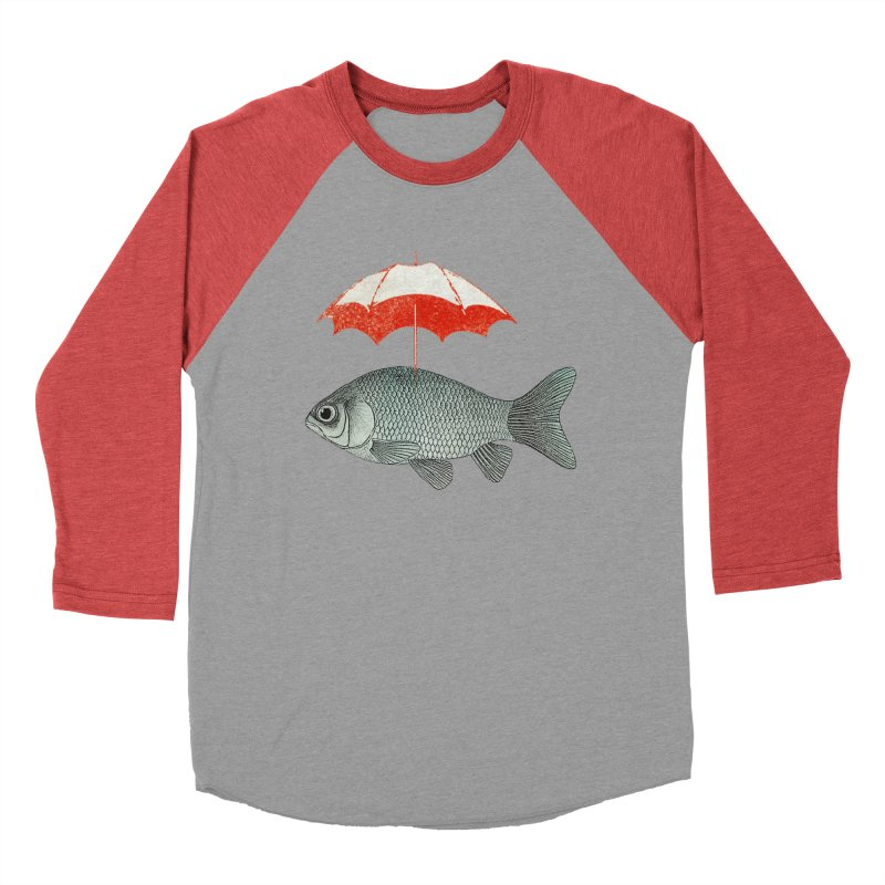 Umbrella Goldfish Men's Baseball Triblend T-Shirt by Vin Zzep's Artist Shop