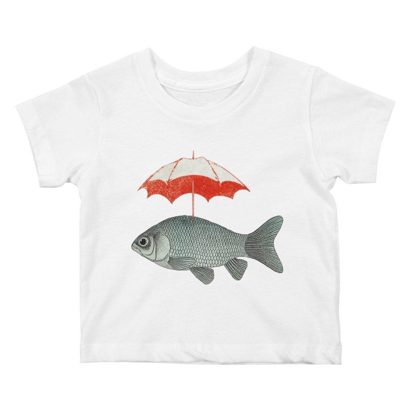 Umbrella Goldfish Kids Baby T-Shirt by Vin Zzep's Artist Shop