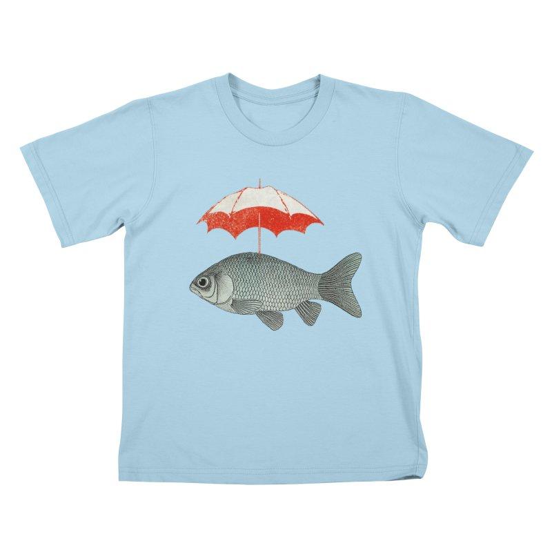 Umbrella Goldfish Kids T-Shirt by Vin Zzep's Artist Shop
