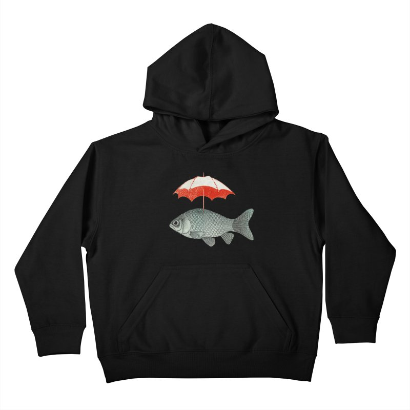 Umbrella Goldfish Kids Pullover Hoody by Vin Zzep's Artist Shop