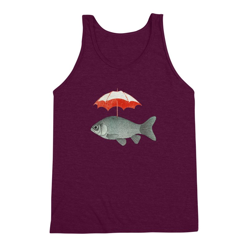 Umbrella Goldfish Men's Triblend Tank by Vin Zzep's Artist Shop