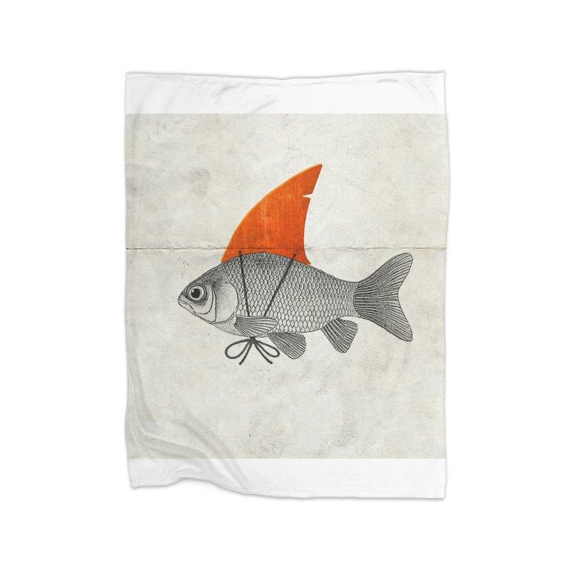 Shark Fin Goldfish Home Blanket by Vin Zzep's Artist Shop