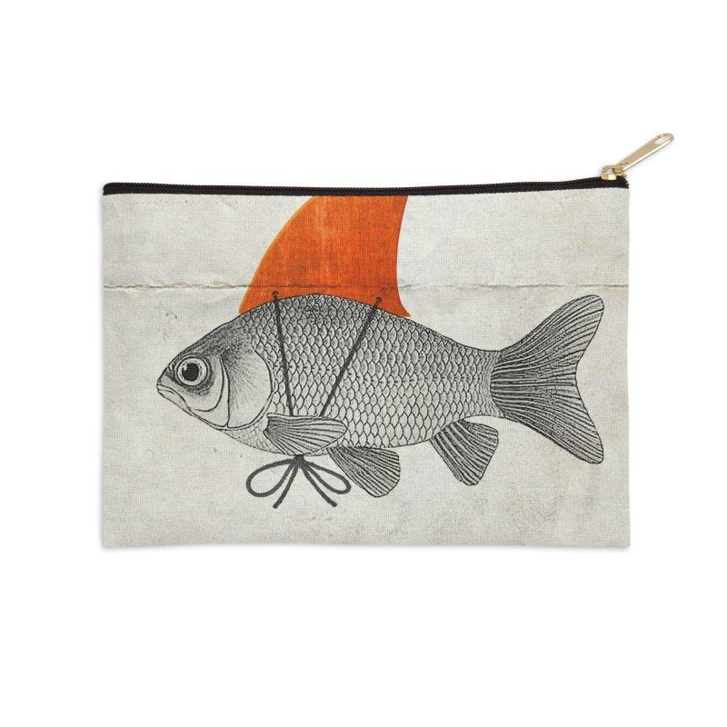 Shark Fin Goldfish Accessories Zip Pouch by Vin Zzep's Artist Shop