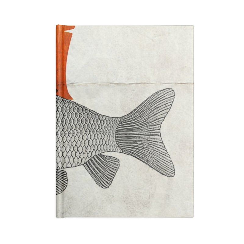 Shark Fin Goldfish Accessories Notebook by Vin Zzep's Artist Shop