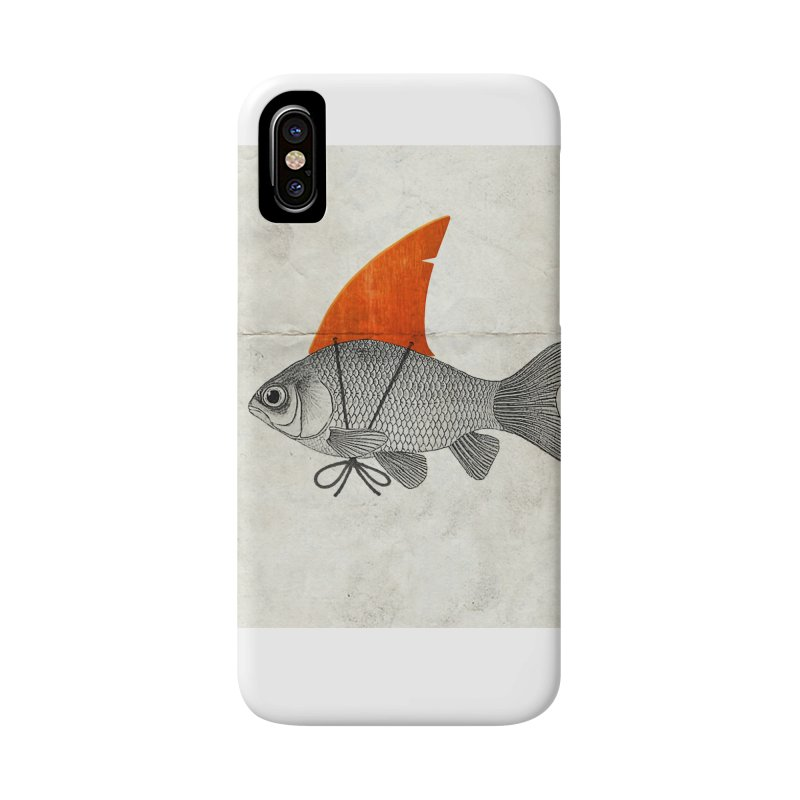 Shark Fin Goldfish Accessories Phone Case by Vin Zzep's Artist Shop