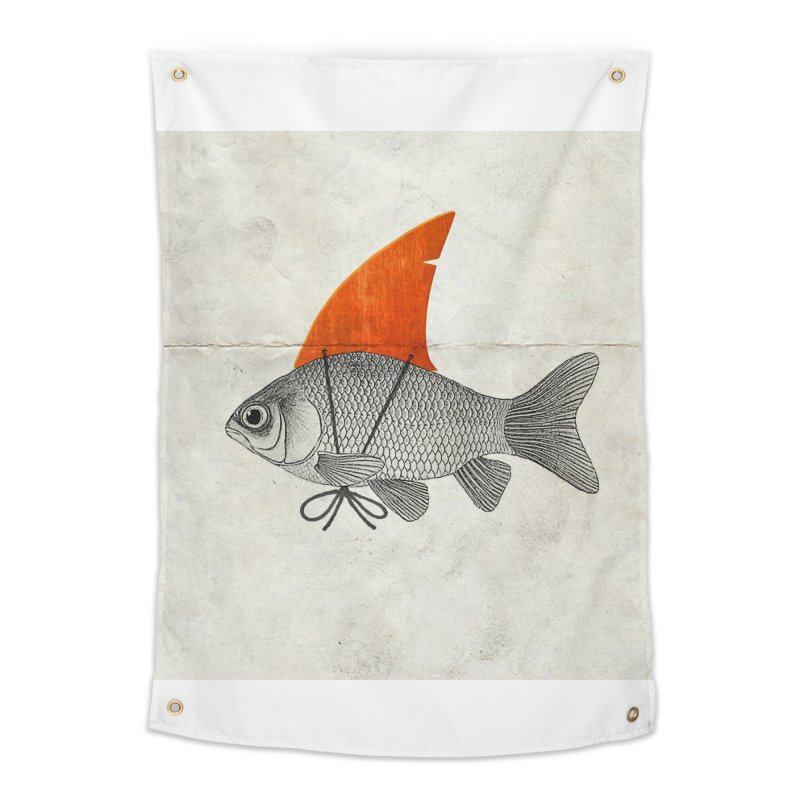 Shark Fin Goldfish Home Tapestry by Vin Zzep's Artist Shop