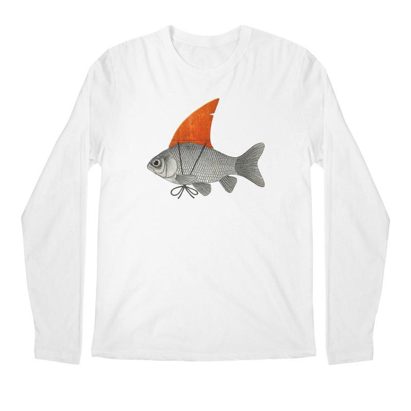Shark Fin Goldfish Men's Longsleeve T-Shirt by Vin Zzep's Artist Shop