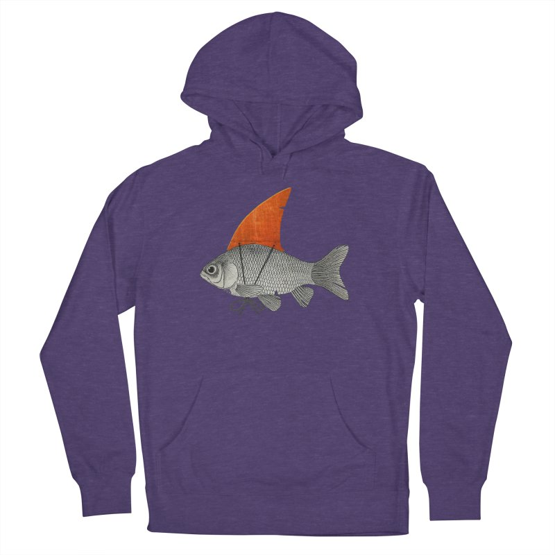 Shark Fin Goldfish Women's Pullover Hoody by Vin Zzep's Artist Shop