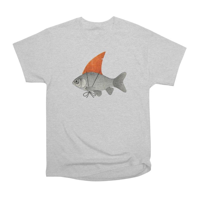 Shark Fin Goldfish Men's Heavyweight T-Shirt by Vin Zzep's Artist Shop