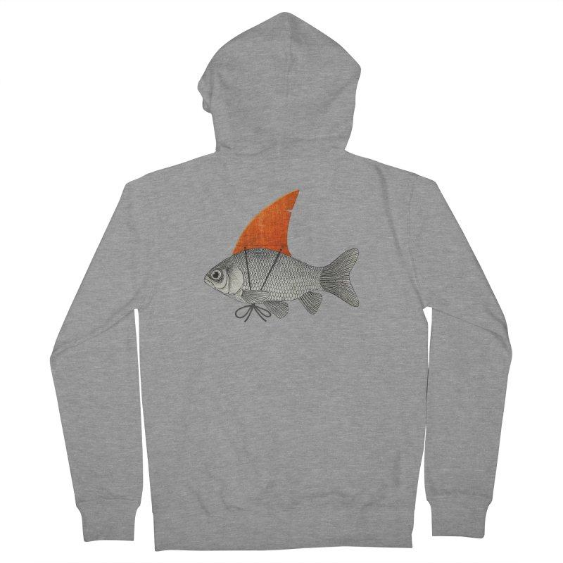 Shark Fin Goldfish Women's Zip-Up Hoody by Vin Zzep's Artist Shop