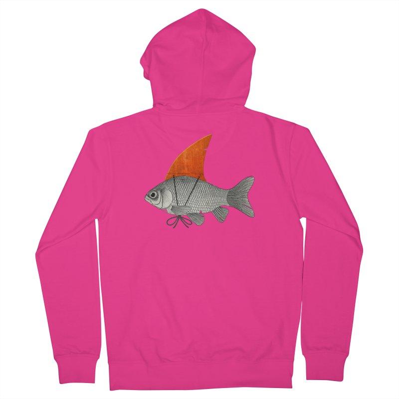 Shark Fin Goldfish Men's Zip-Up Hoody by Vin Zzep's Artist Shop
