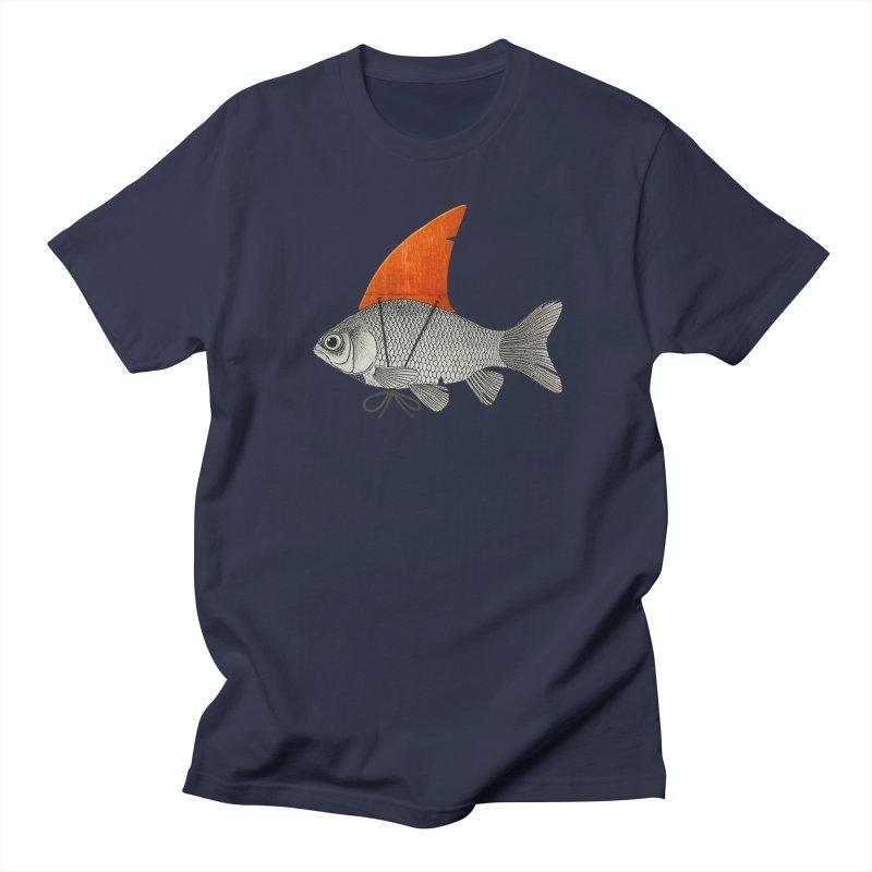 Shark Fin Goldfish Men's T-Shirt by Vin Zzep's Artist Shop
