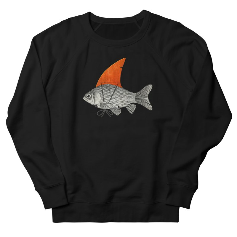 Shark Fin Goldfish Women's Sweatshirt by Vin Zzep's Artist Shop