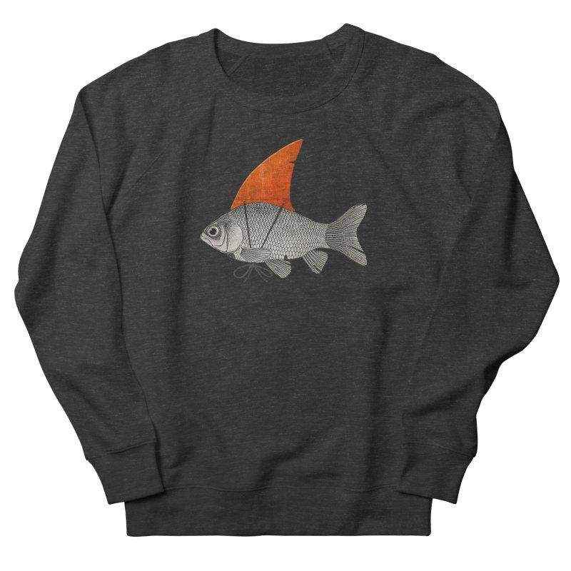 Shark Fin Goldfish Men's Sweatshirt by Vin Zzep's Artist Shop