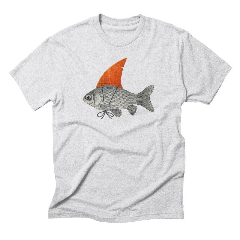 Shark Fin Goldfish Men's Triblend T-Shirt by Vin Zzep's Artist Shop