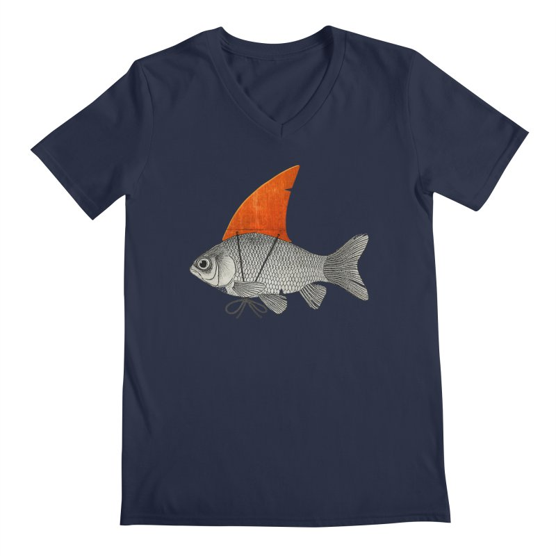 Shark Fin Goldfish Men's V-Neck by Vin Zzep's Artist Shop
