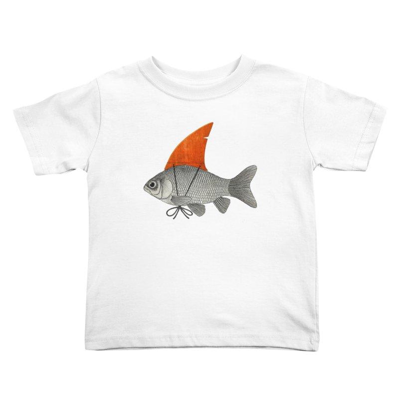 Shark Fin Goldfish Kids Toddler T-Shirt by Vin Zzep's Artist Shop