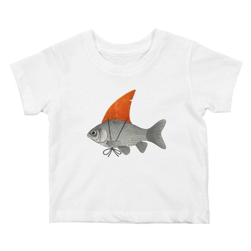Shark Fin Goldfish Kids Baby T-Shirt by Vin Zzep's Artist Shop