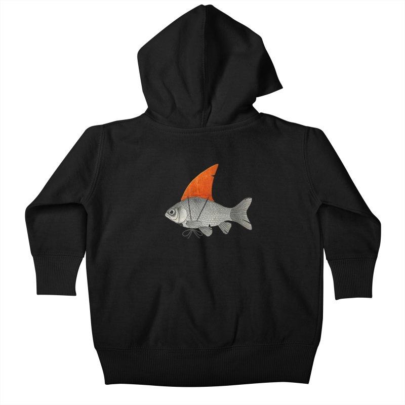 Shark Fin Goldfish Kids Baby Zip-Up Hoody by Vin Zzep's Artist Shop