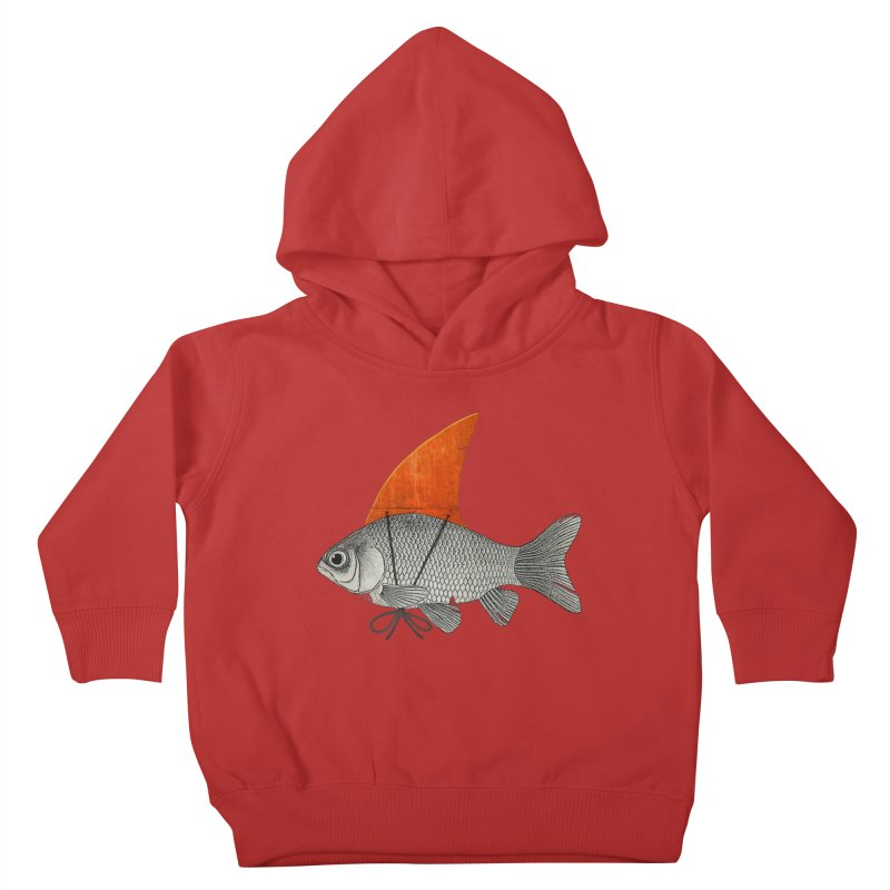 Shark Fin Goldfish Kids Toddler Pullover Hoody by Vin Zzep's Artist Shop