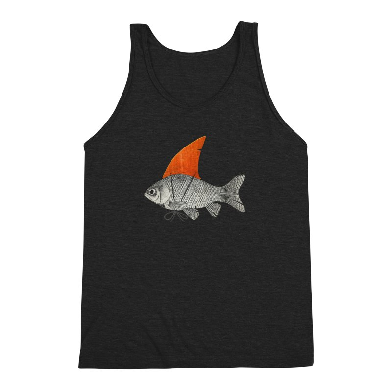 Shark Fin Goldfish Men's Triblend Tank by Vin Zzep's Artist Shop