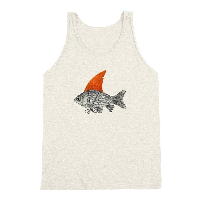 Shark Fin Goldfish Men's Triblend Tank by Vin Zzep's Artist Shop