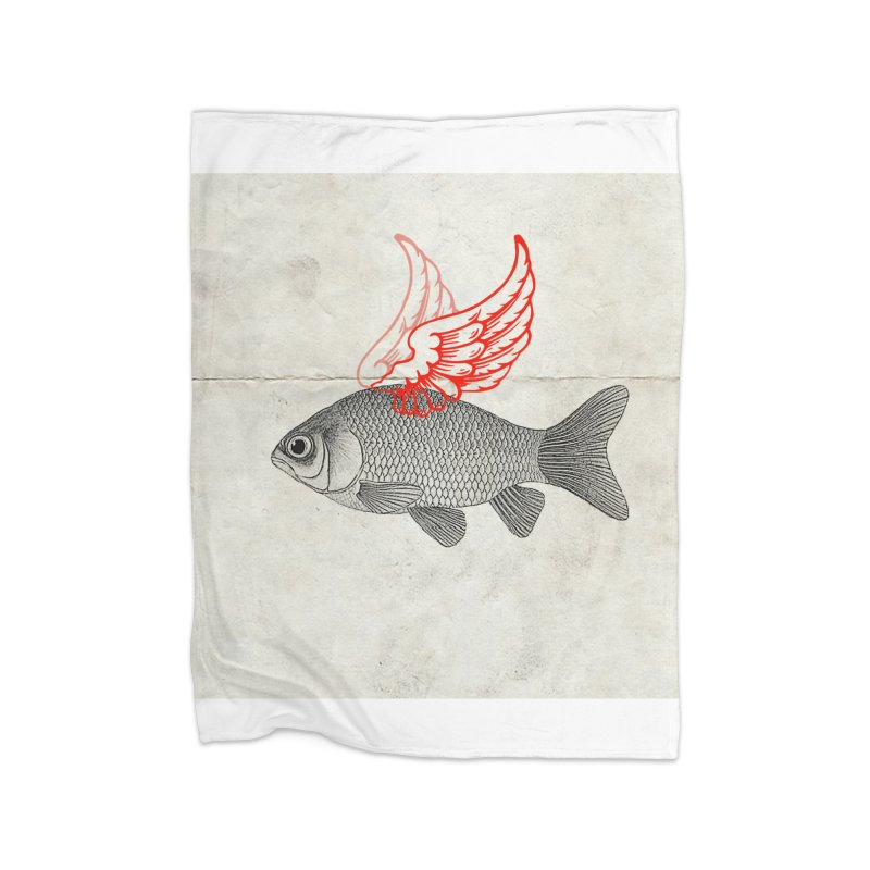 Flying Fish Home Blanket by Vin Zzep's Artist Shop