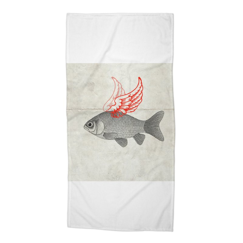 Flying Fish Accessories Beach Towel by Vin Zzep's Artist Shop