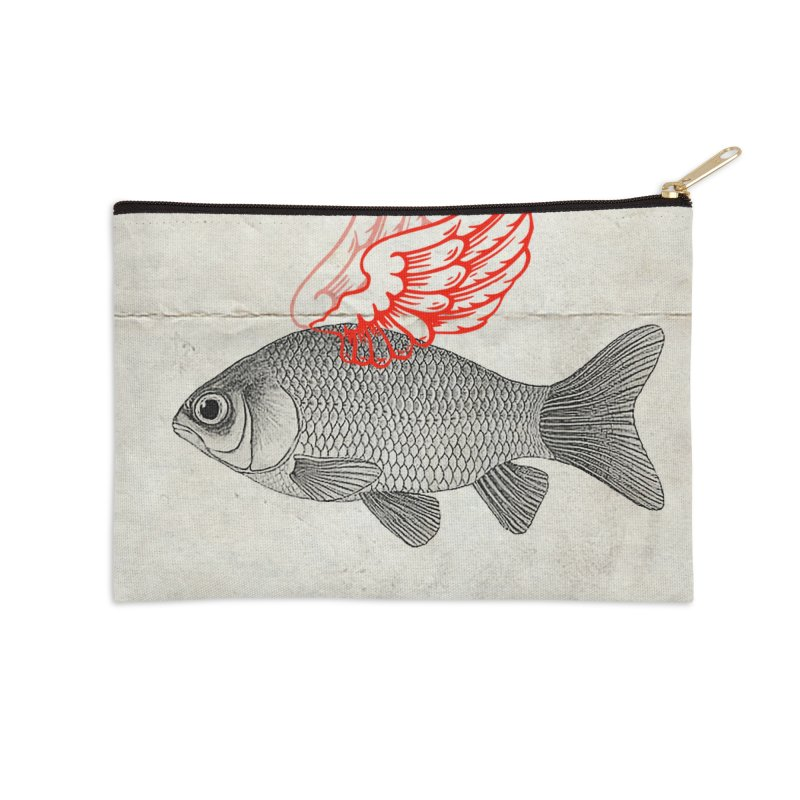 Flying Fish Accessories Zip Pouch by Vin Zzep's Artist Shop