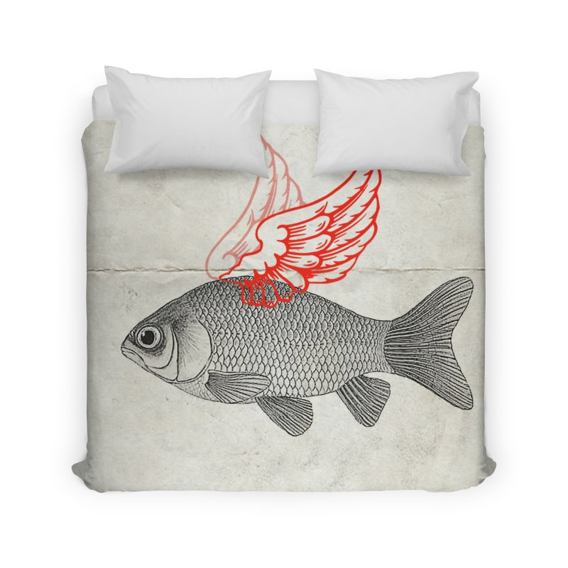 Flying Fish Home Duvet by Vin Zzep's Artist Shop