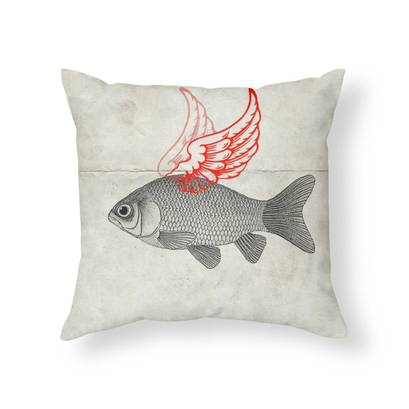 Flying Fish Home Throw Pillow by Vin Zzep's Artist Shop
