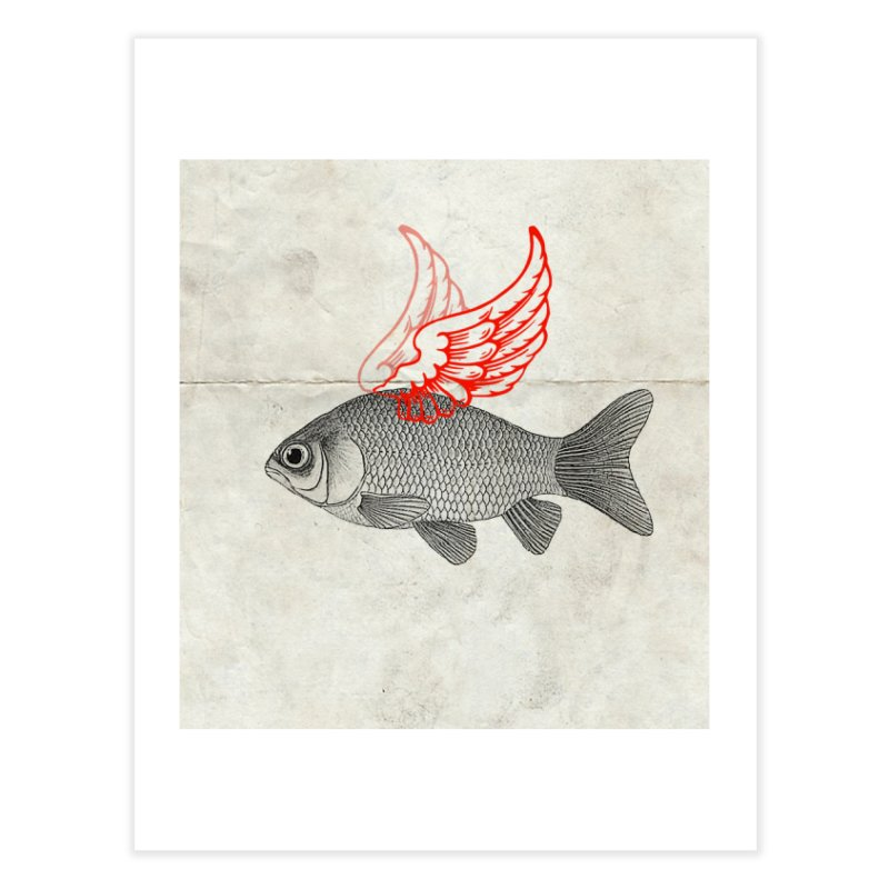Flying Fish Home Fine Art Print by Vin Zzep's Artist Shop