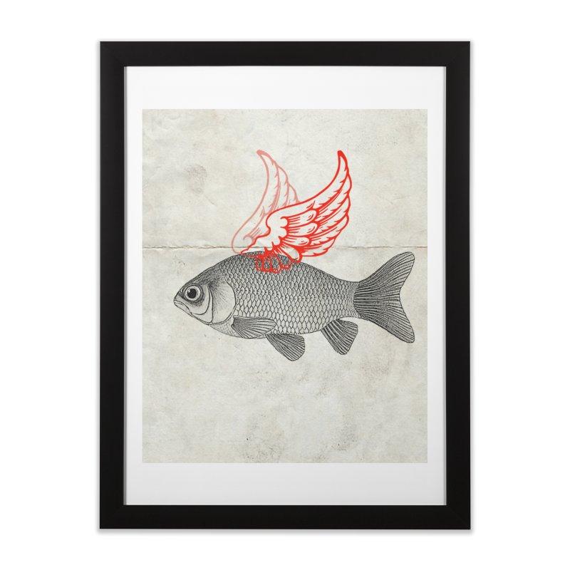 Flying Fish Home Framed Fine Art Print by Vin Zzep's Artist Shop