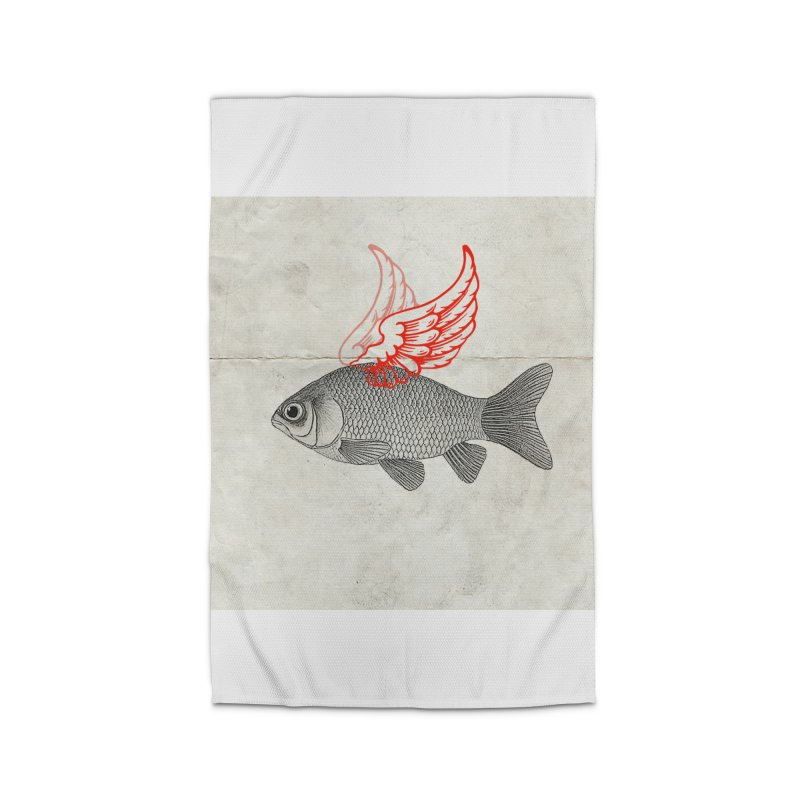 Flying Fish Home Rug by Vin Zzep's Artist Shop