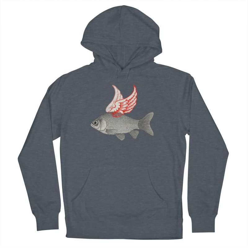 Flying Fish Men's Pullover Hoody by Vin Zzep's Artist Shop