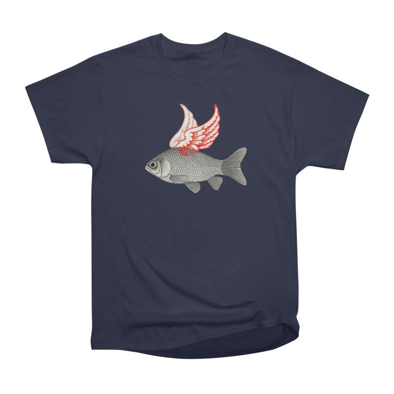 Flying Fish Men's Heavyweight T-Shirt by Vin Zzep's Artist Shop