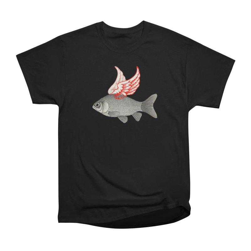 Flying Fish Women's Classic Unisex T-Shirt by Vin Zzep's Artist Shop