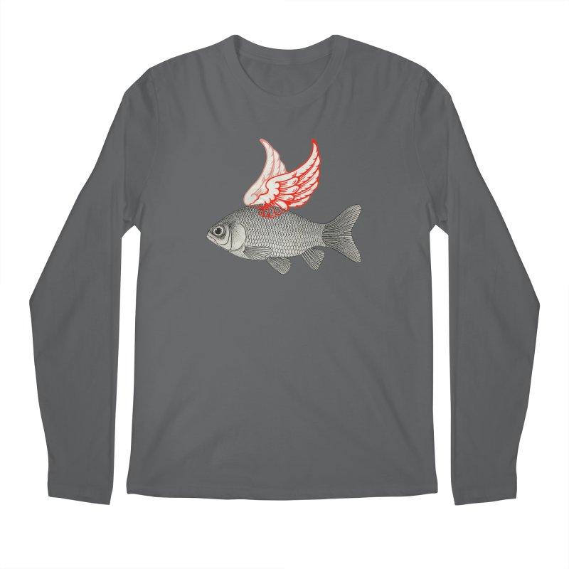 Flying Fish Men's Longsleeve T-Shirt by Vin Zzep's Artist Shop