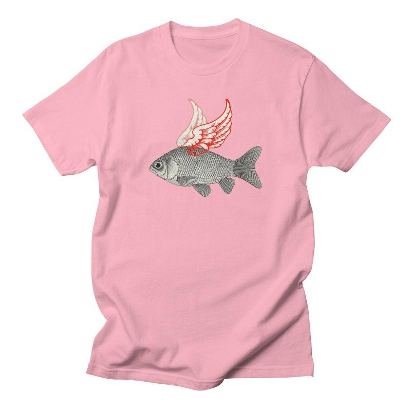 Flying Fish Men's T-Shirt by Vin Zzep's Artist Shop
