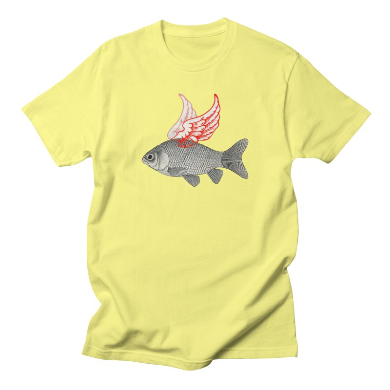Flying Fish Men's T-Shirt by Vin Zzep's Artist Shop