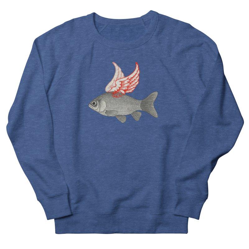 Flying Fish Men's Sweatshirt by Vin Zzep's Artist Shop