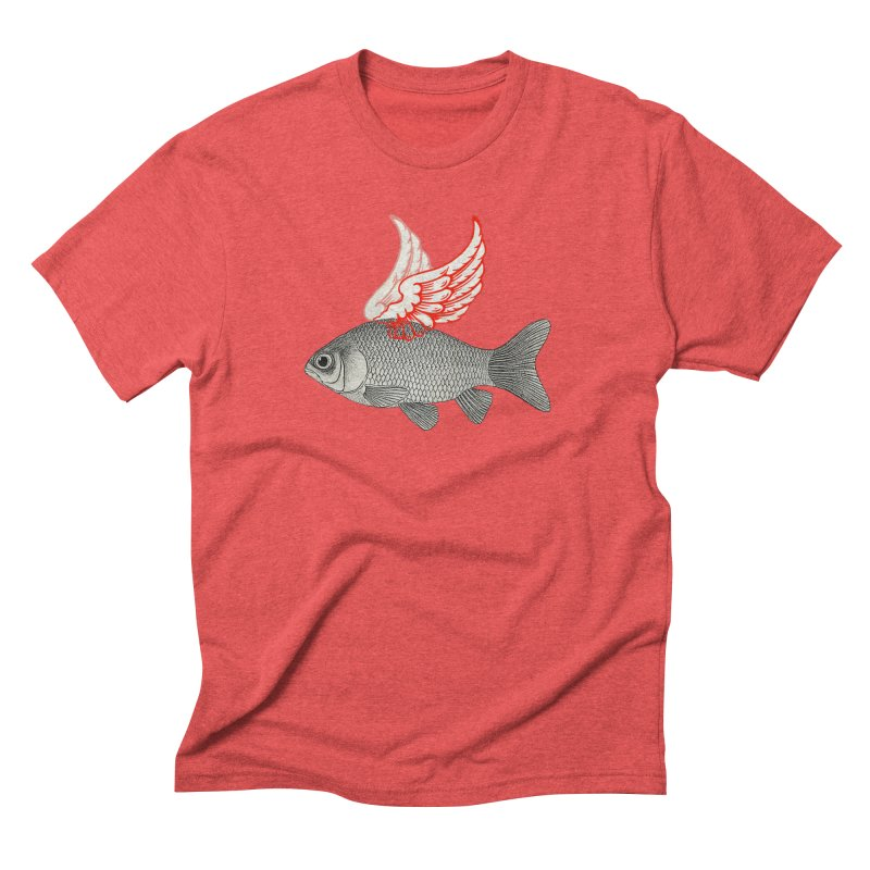 Flying Fish Men's Triblend T-Shirt by Vin Zzep's Artist Shop