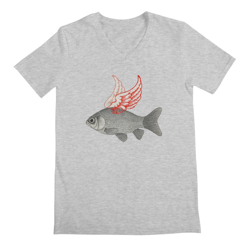 Flying Fish Men's V-Neck by Vin Zzep's Artist Shop