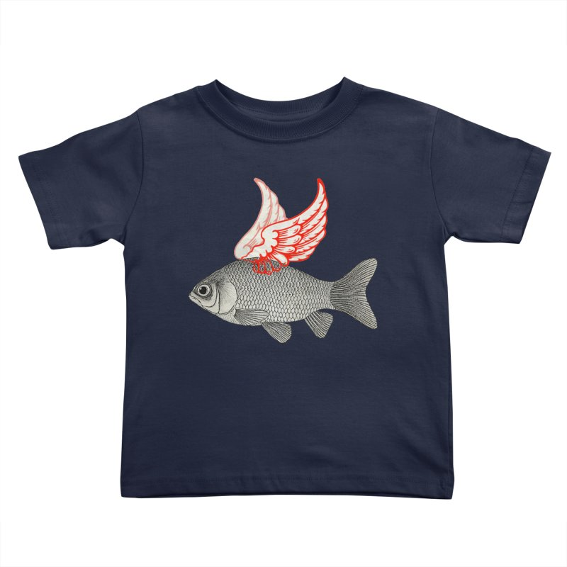 Flying Fish Kids Toddler T-Shirt by Vin Zzep's Artist Shop