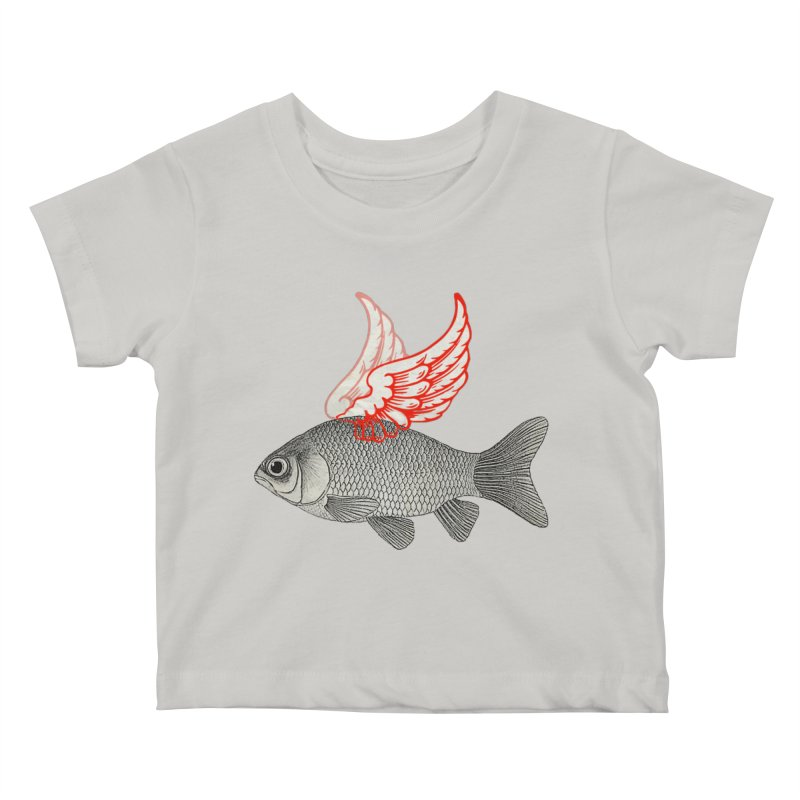 Flying Fish Kids Baby T-Shirt by Vin Zzep's Artist Shop